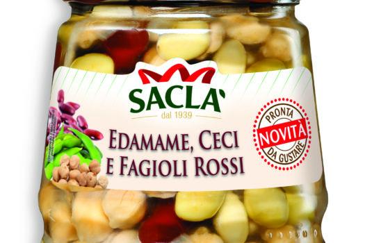 Insalata edamame, ceci e fagioli rossi Saclà: fra i top 100 prodotti nell'Innovation Corner di Cibus