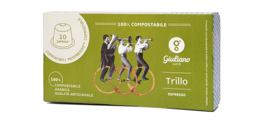 Trillo è la nuova capsula compostabile di giuliano caffè