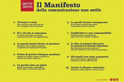 Parole o_stili: un manifesto per la comunicazione in rete hate free